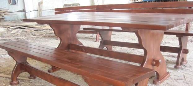 Стол и лавочки для беседки