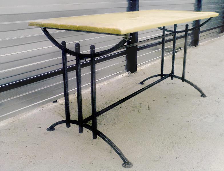 Стол для дачи из профильной трубы своими руками