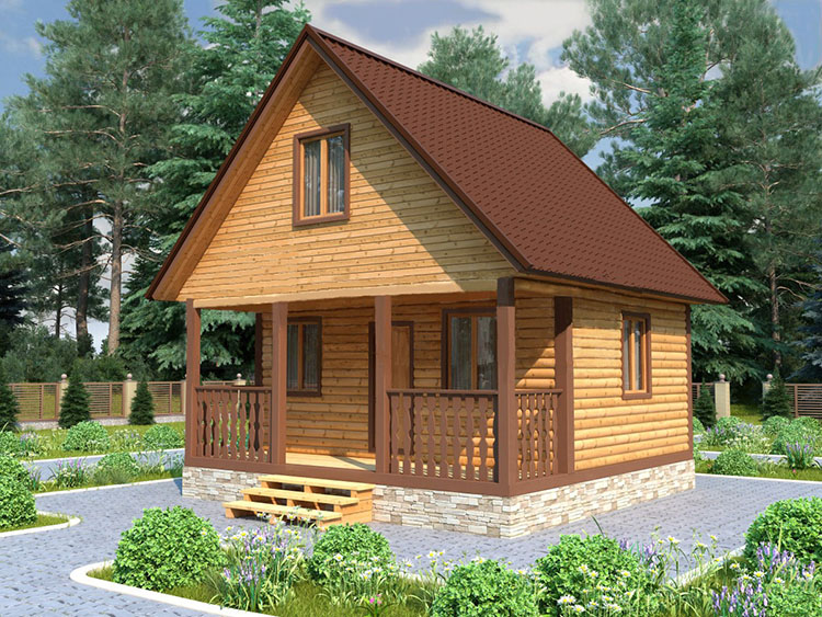 Строительство дома из бруса 6 на 6 своими руками