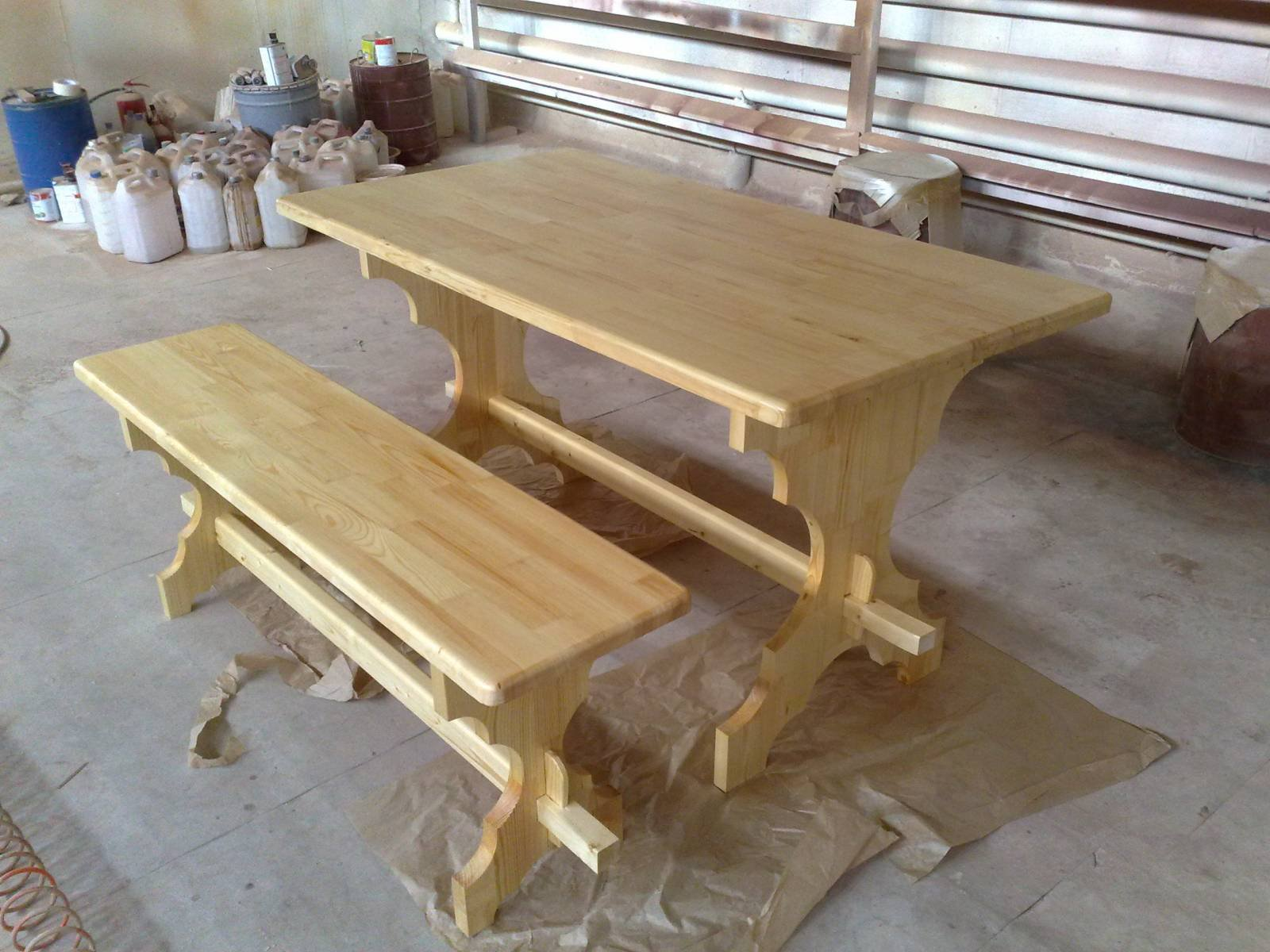 Деревянные столы своими руками фото